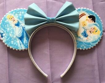 Cinderella and Friends Minnie Mickey ears headband