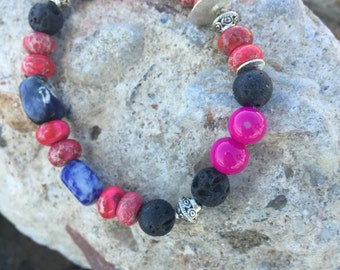 Moonburst Pendant Bracelet
