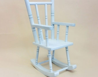 newborn toddler wooden rocking chair chair photography prop RTS
