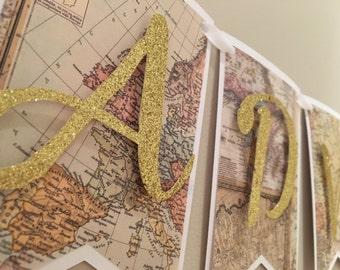 Adventure Awaits Bridal Shower Travel Banner