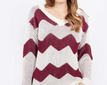 Jessie Chevron Tunic Sweater