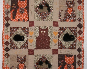 Quilt, cats & mouse