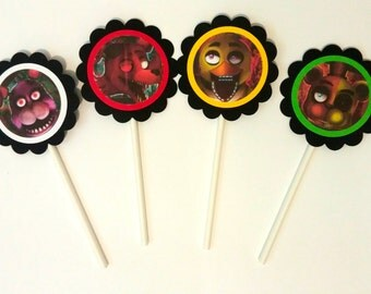 5 Nights at Freddys Cupcake Toppers