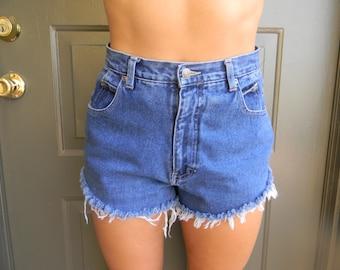 Medium Wash High Waisted Shorts