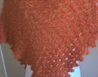 Orange shawl crochet