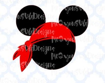Pirate Bandanna Mouse Head SVG,EPS,PNG,Studio