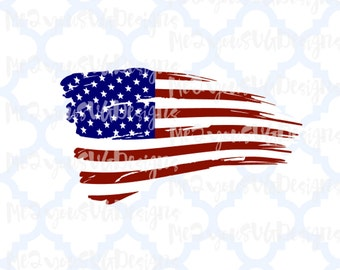 Distressed American Flag SVG,EPS,PNG,Studio