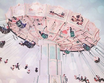 Carnival Photography Nursery Room Carnival Swing Ride wall Art Luna Park Photography Festival Photo shabby chic Instant Download Print