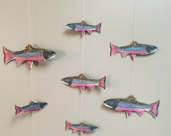 Brook Trout Mobile: 10 fish swimming