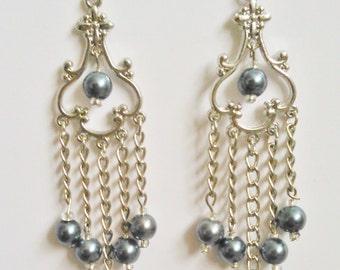 Delicate Chandelier Drop Earrings