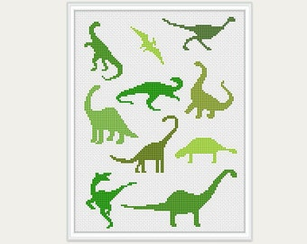 Dinosaurs Cross stitch - Embroidery - Baby Cross Stitch - Cross Stitch Pattern - PDF Digital - INSTANT DOWNLOAD