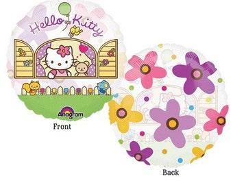 FAST SHIP Jumbo Hello Kitty Birthday Balloons, Hello Kitty Party Balloons, Hello Kitty Clear Mylar Balloons, Hello Kitty Party Supplies