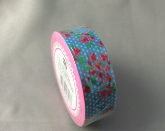 Pink and Blue Floral Washi