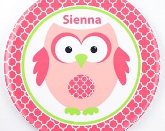 Personalised Owl Plate