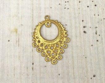 1 pcs Filigree Mini Chandelier Necklace Component Pendants