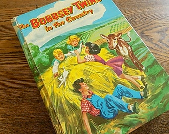 Vintage Childrens Book - Bobbsy Twins In the Country