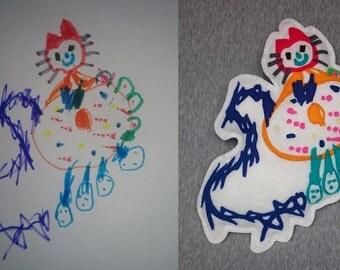 Custom Toy From Your Child's Drawing, Custom Toy, Custom Stuffed Mascott