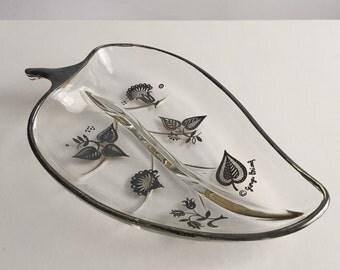 Vintage Serving Dish, Leaf Serving Dish, Vintage Georges Briard