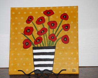 Poppy Painting with acrylics