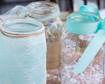Set of Mason Jar Centerpieces / Custom