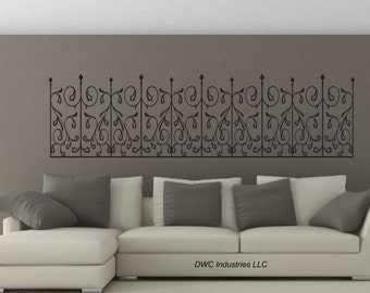 Wrought Iron Scroll #452 - Vinyl Wall Art / Vinyl Sticker / Wall Decal / Vinyl Decal / Wall Art / Vinyl Art