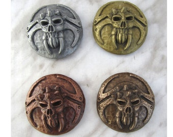Deathgrinder mini shield refrigerator magnets (4 piece set)