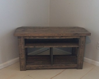 "42"" Rustic Corner TV Stand/Console.. Wood Console Table"