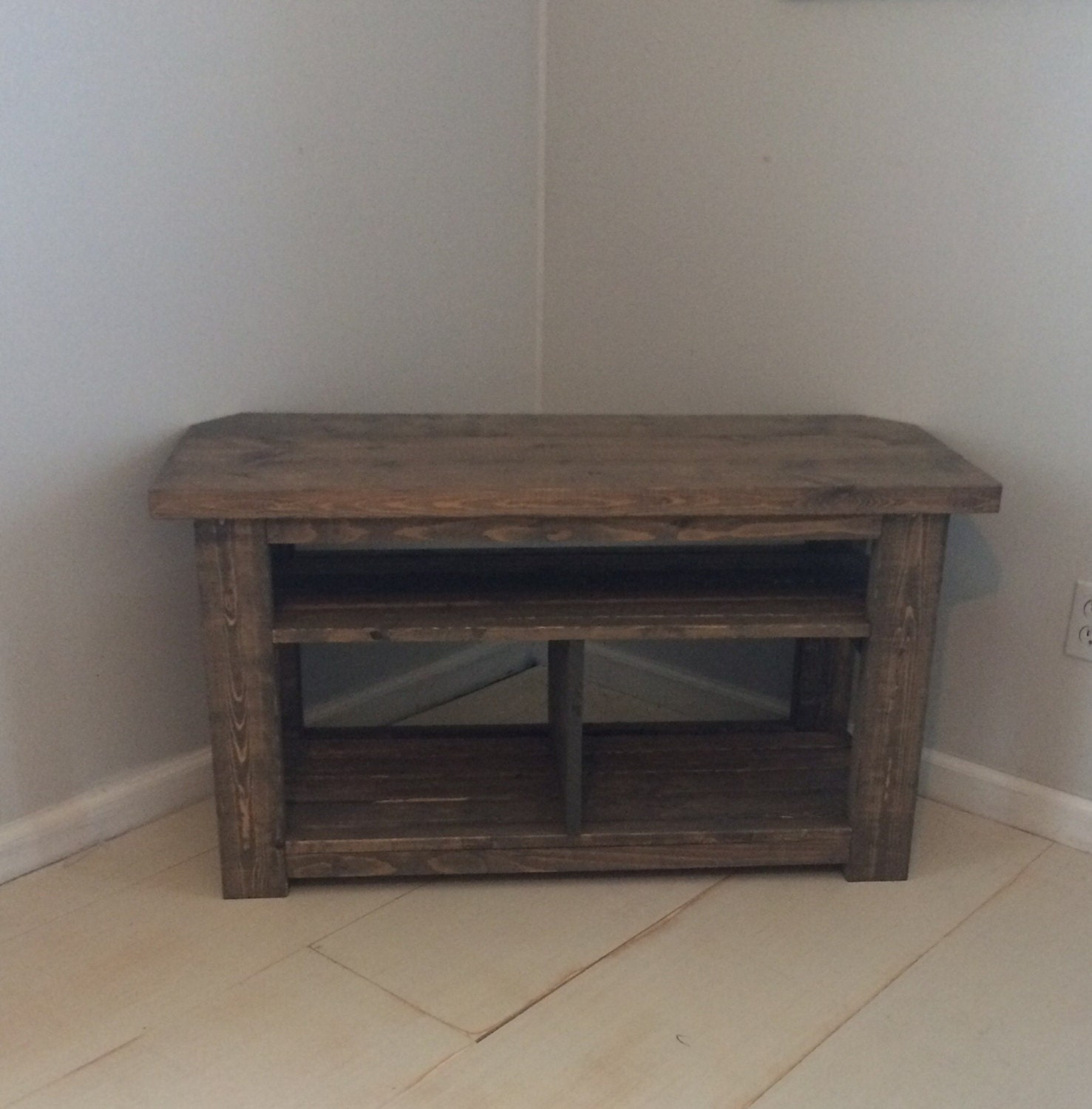 42 rustic corner tv stand console wood console table. Black Bedroom Furniture Sets. Home Design Ideas