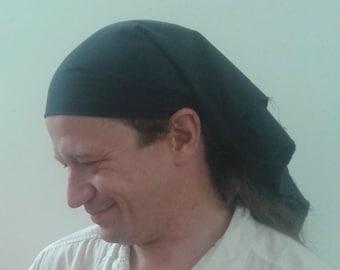 Brown Frayed Edge Headscarf/Bandana