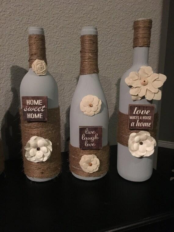 items similar to wine bottle decor home wine bottles. Black Bedroom Furniture Sets. Home Design Ideas