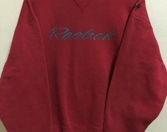 Vintage 90's Reebok Sport Classic Design Skate Sweat Shirt Sweater Varsity Jacket Size XL #A225
