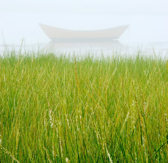 Fine art landscape photo of boat sea grass for Seagrass landscaping