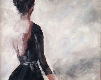 "12x12"" Acrylic Painting of a Ballerina by Debi Sellinger"