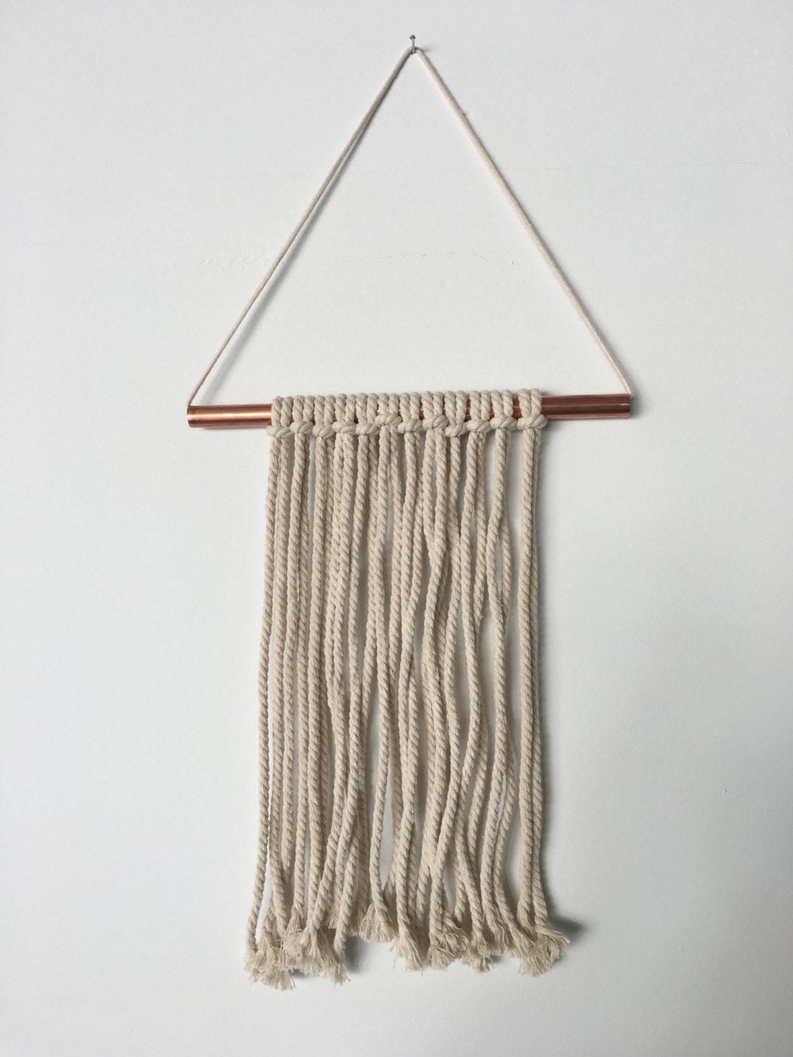 Wall Decor With Rope : Thick rope with copper rod wall decor