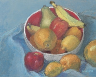 Fruit In A White Bowl