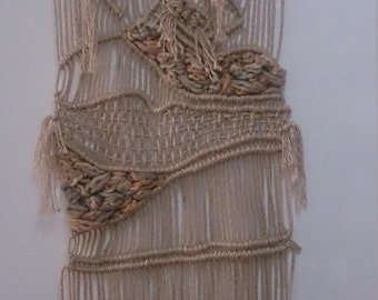 Macrame of natural cord