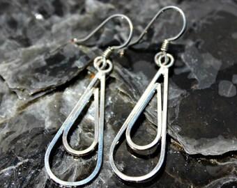 Sterling Silver Rain Drop Earrings Handcrafted