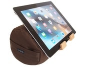 Nutmeg Brown - The eZView Tablet Bolster - Made in USA - Eco-Friendly - Perfect Tablet Holder for Hands-Free Viewing on Bed and Sofa