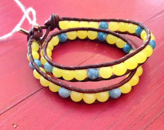 Lemonade Stand Double Wrap Bracelet