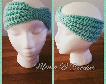 Crochet Womans Ear warmers, Womans Headwrap, Womans Headband