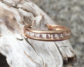 Russian Rose Gold Half Eternity Band
