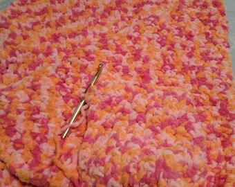 Pink and Orange Baby Blanket