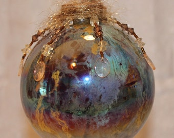 Blue and Gold Ornament