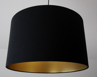 "Lampshade ""Black-gold"""