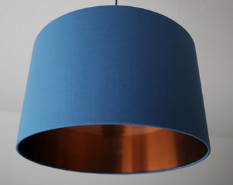 "Lampshade ""Pigeon blue-copper"" (pigeon blue copper)"