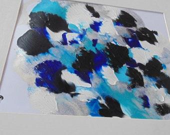 White, Blue, Original art by S.A. Rivera