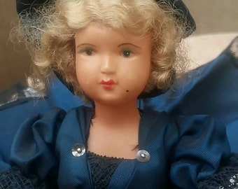 Old original and majestic doll french cancan, signed SNF