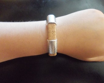 Bracelet handmade unisex with cork from Portugal
