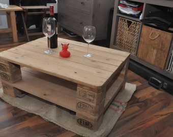 Pallet timber side table