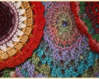 Hanging Mandala & Sun-catcher ~ Crochet Art   #16